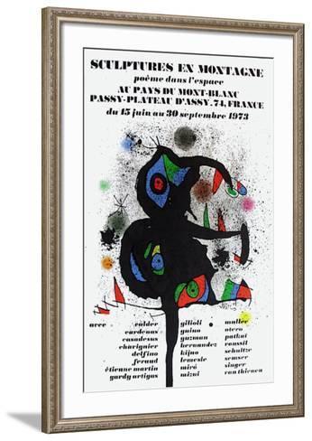 Expo 73 - Sculptures En Montagne-Joan Mir?-Framed Art Print
