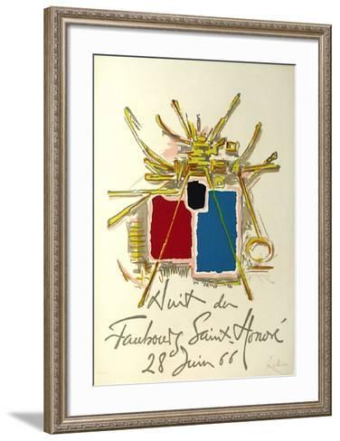Nuit Du Fg Saint Honoré-Georges Mathieu-Framed Art Print