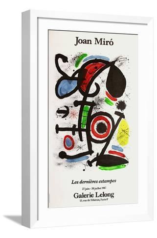 Expo 87 - Galerie Lelong-Joan Mir?-Framed Art Print
