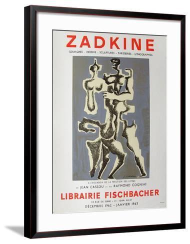 Expo Librairie Fischbacher-Ossip Zadkine-Framed Art Print