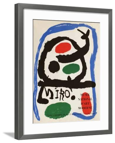 Expo 62 - Mus?e National D'Art Moderne-Joan Mir?-Framed Art Print