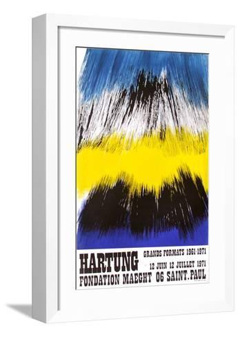 Expo Fondation Maeght-Hans Hartung-Framed Art Print