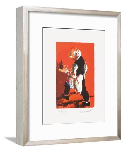 Paris, Le Gar?on De Caf?-Urbain Huchet-Framed Art Print