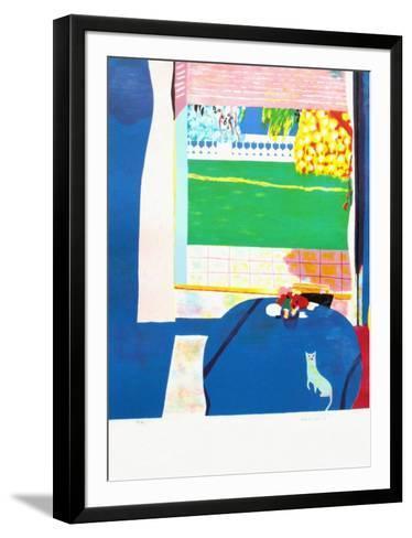 Le Chat Sur La Table-Roberto Ortuno-Framed Art Print