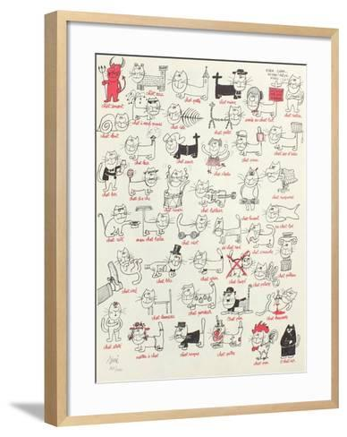 Les chats-Sin?-Framed Art Print