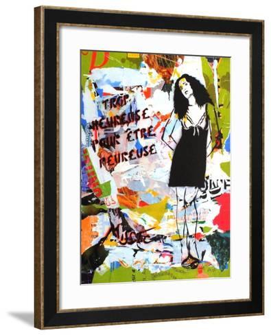 Trop Heureuse Pour ?tre Peureuse-Miss^Tic-Framed Art Print