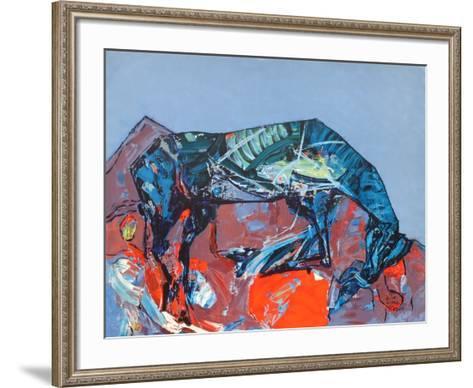 Le cheval-Kiro Urdin-Framed Art Print