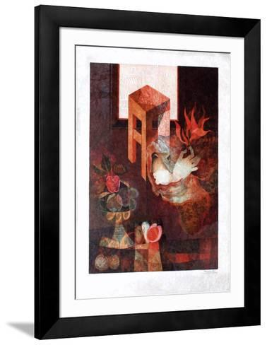 La Coupe De Fruits Et Le Tabouret-Sunol Alvar-Framed Art Print