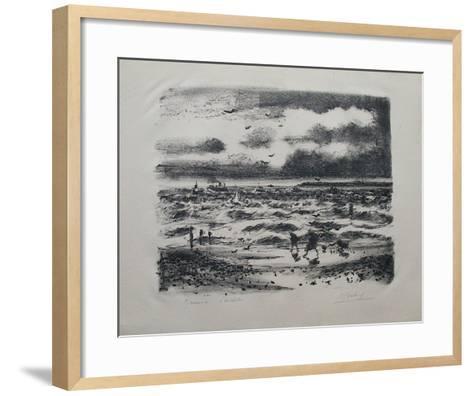 Sur la C?te Normande-Gaston Sebire-Framed Art Print