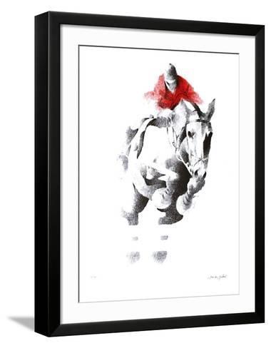 Saut D'Obstacle-Jean-louis Guitard-Framed Art Print