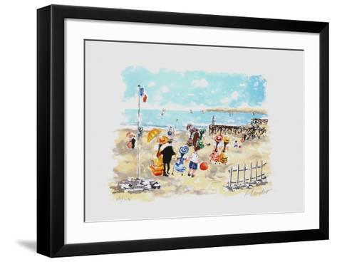 Bord De Plage-Urbain Huchet-Framed Art Print