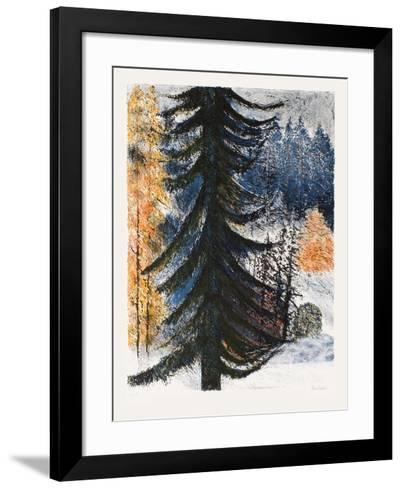 Le sapin solitaire-Guy Bardone-Framed Art Print