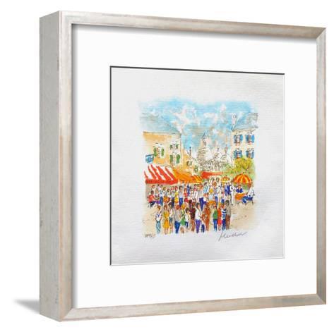 Paris, Montmartre La Place Du Tertre ?-Urbain Huchet-Framed Art Print