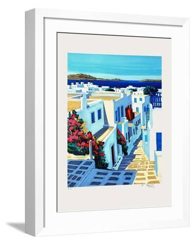 Mykonos : plein soleil-Jean Claude Quilici-Framed Art Print