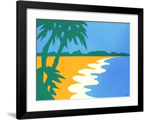 Paysage Tropical III-Jean Coulot-Framed Art Print
