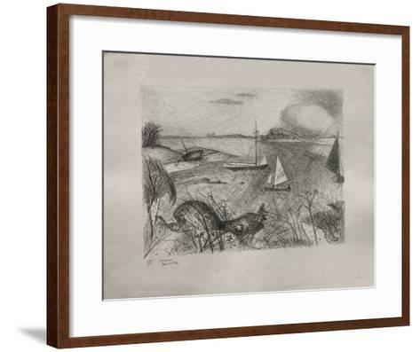 Bord De Mer-Jacques Lestrille-Framed Art Print