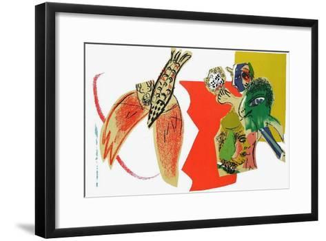 XX?me Si?cle - Composition-Marc Chagall-Framed Art Print