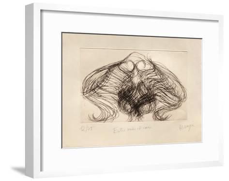 Ap192B - Entre Ou?es Et C?urs Ii-Jean Messagier-Framed Art Print