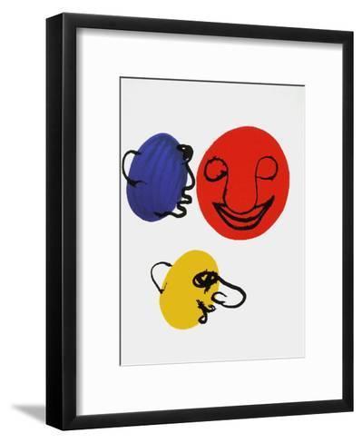 Derrier le Mirroir, no. 221: Visages-Alexander Calder-Framed Art Print