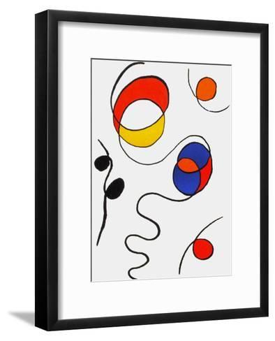 Derrier le Mirroir, no. 173: Composition II-Alexander Calder-Framed Art Print