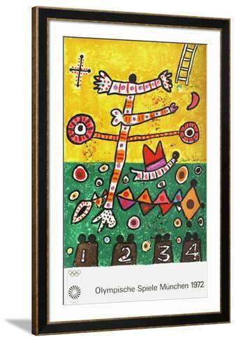 Jeux Olympiques Munich 1972-Alan Davie-Framed Art Print