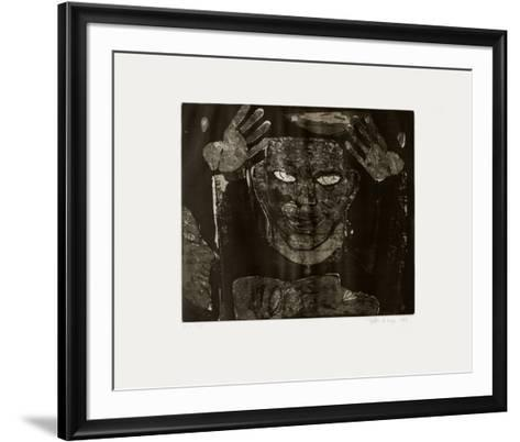 Deux mains avec deux t?tes-Remigio Valdes De Hoyos-Framed Art Print