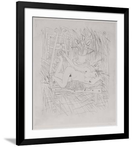 Nu Aux Arums - 1Er ?tat-Louis Cane-Framed Art Print