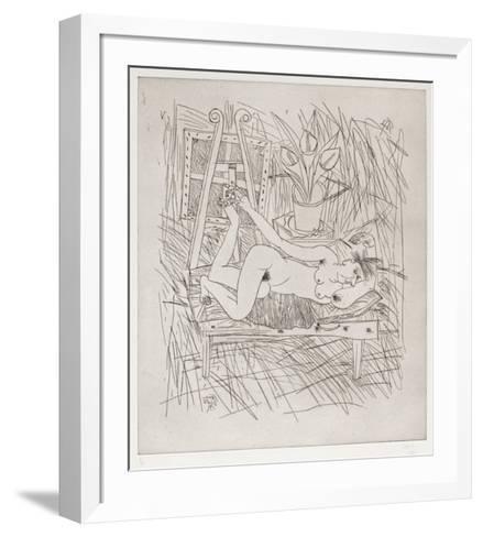 Nu Aux Arums - 2Ème État-Louis Cane-Framed Art Print