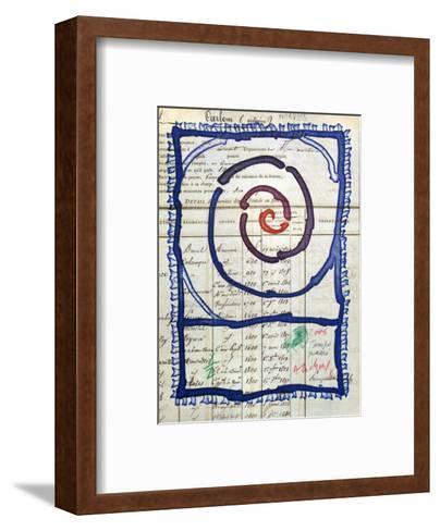 Temps Pass?-Pierre Alechinsky-Framed Art Print