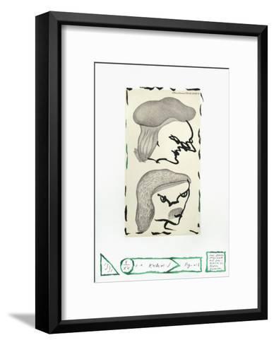 Flora Danica Fig. 6-Pierre Alechinsky-Framed Art Print