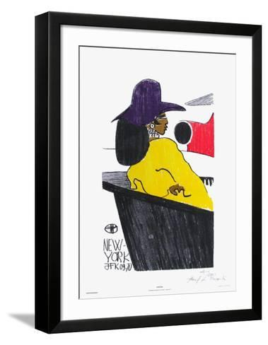 Waiting - New York Jfk 09.70-Florent Margaritis-Framed Art Print