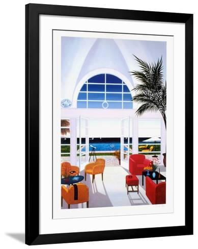 Interior With A Red Armchair-Fanch Ledan-Framed Art Print