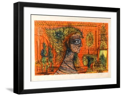 La Reine Masquée-Jean Carzou-Framed Art Print