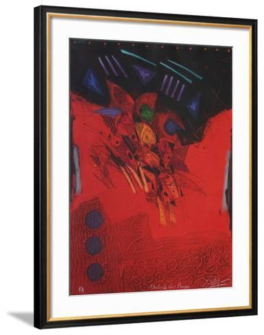 L'Artiste Voit Rouge-Georges Dussau-Framed Art Print