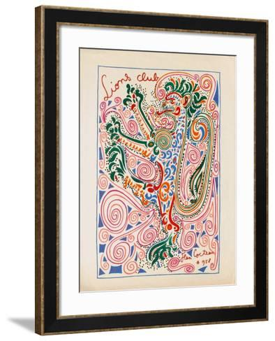IIons Club-Jean Cocteau-Framed Art Print