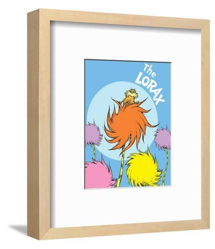 The Lorax (on blue)-Theodor (Dr. Seuss) Geisel-Framed Art Print