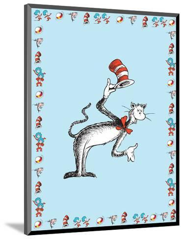 The Cat in the Hat: The Cat (on blue)-Theodor (Dr. Seuss) Geisel-Mounted Art Print
