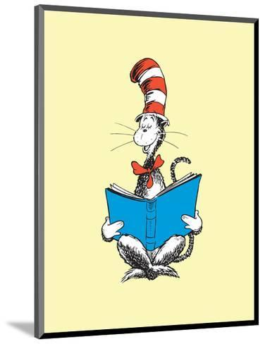 The Cat in the Hat (on yellow)-Theodor (Dr. Seuss) Geisel-Mounted Art Print