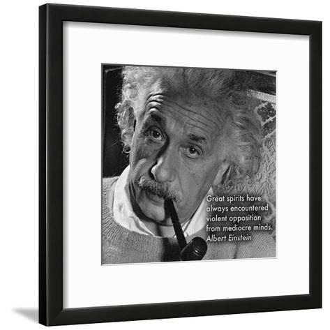 Albert Einstein--Framed Art Print