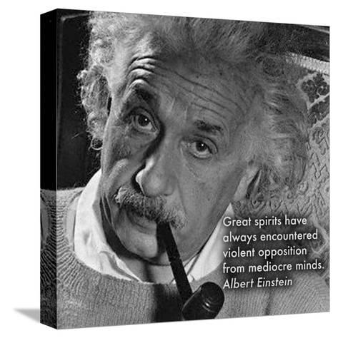 Albert Einstein--Stretched Canvas Print