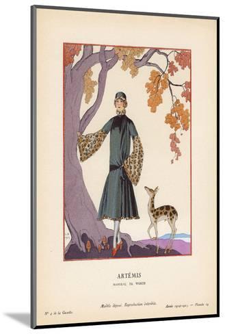 Artemis-Georges Barbier-Mounted Art Print