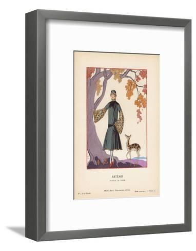 Artemis-Georges Barbier-Framed Art Print