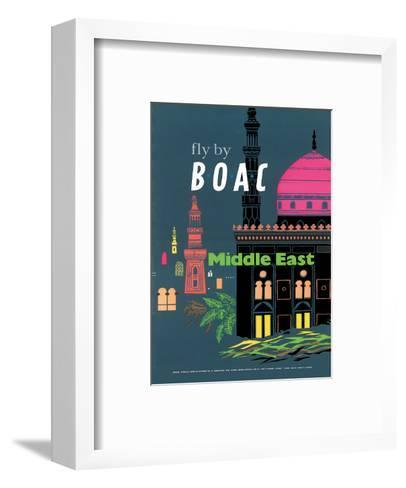 British Overseas Airways Corporation: Fly by BOAC - Middle East, c.1954--Framed Art Print