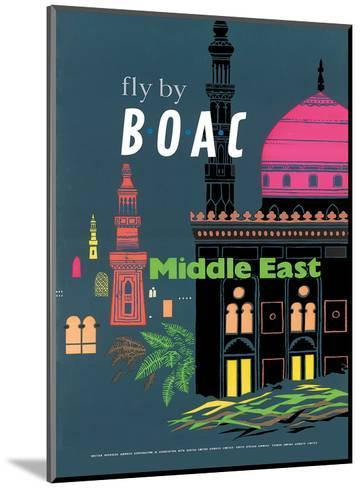British Overseas Airways Corporation: Fly by BOAC - Middle East, c.1954--Mounted Art Print