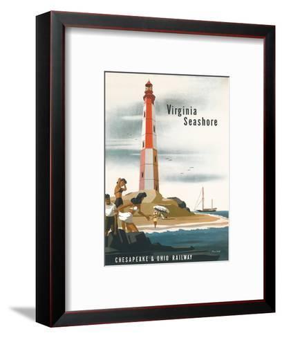 Chesapeake & Ohio Railroad: Virginia Seashore, c.1950s-Bern Hill-Framed Art Print