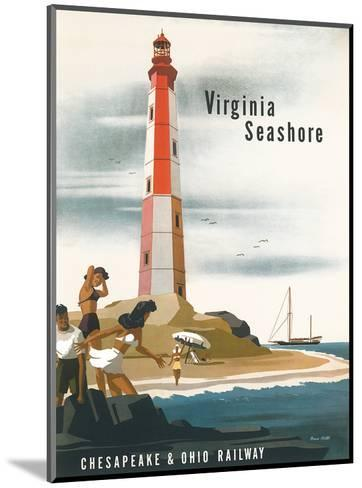 Chesapeake & Ohio Railroad: Virginia Seashore, c.1950s-Bern Hill-Mounted Art Print