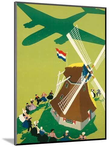 KLM Royal Dutch Airlines: Holland Windmill, c.1945-Paul Brillens-Mounted Art Print