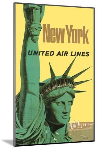 United Air Lines: New York, c.1950s-Stan Galli-Mounted Art Print