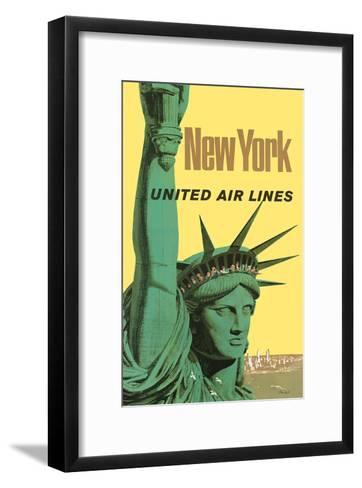 United Air Lines: New York, c.1950s-Stan Galli-Framed Art Print