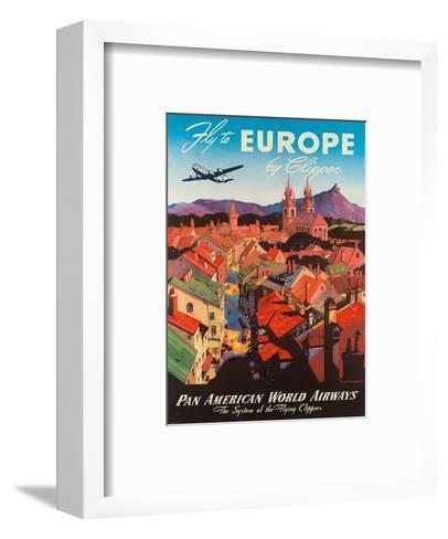 Pan American: Fly to Europe by Clipper, c.1940s-M^ Von Arenburg-Framed Art Print